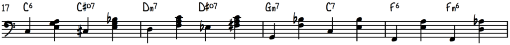 Stride left hand on first 4 measures of My Heart is Jumpin'