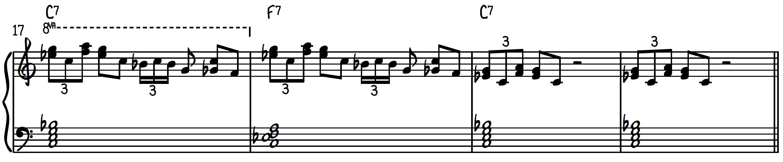 Blues piano lick #2 (line #2)