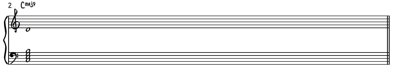 C Major 9 chord construction on piano