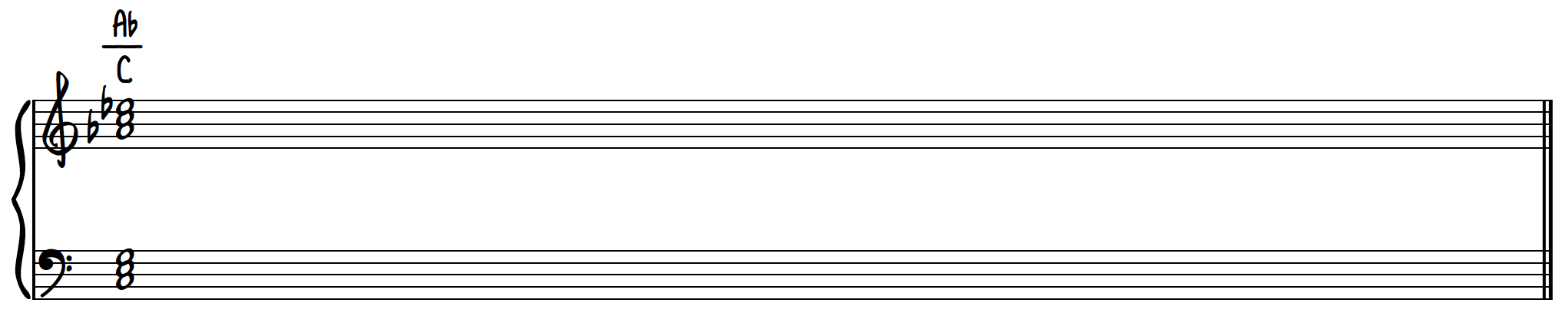 Dissonant Chord 1 - Ab major over C major poly chord on piano