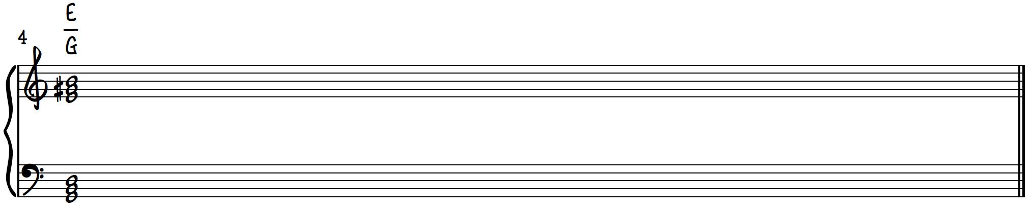 Dissonant Chord 2 - E major over G major poly chord on piano