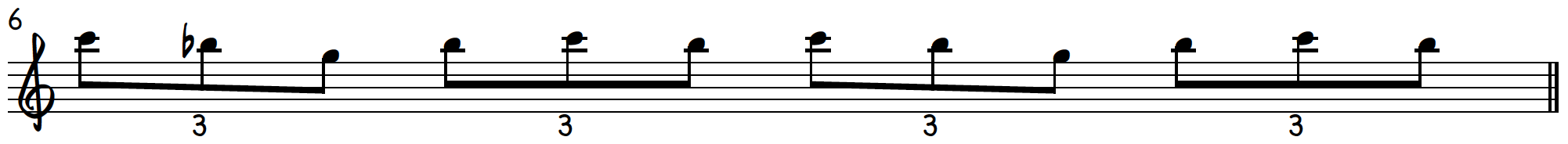 Grip 1 triplet exercise to practice blues piano licks