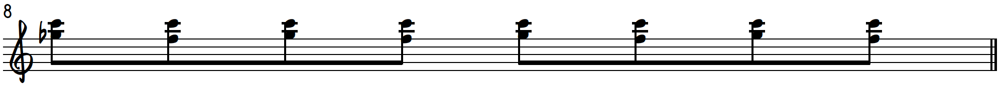 Grip 2 8th note exercise to practice blues piano licks