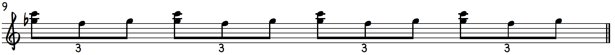 Grip 2 triplet exercise to practice blues piano licks