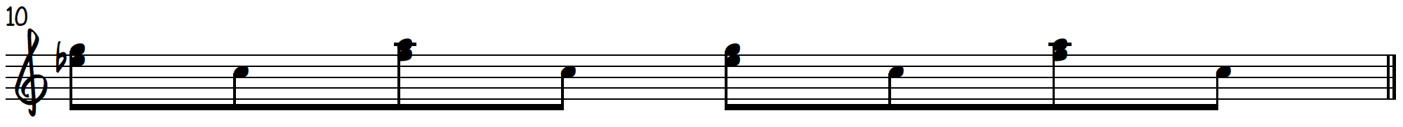 Grip 3 8th note exercise to practice blues piano licks