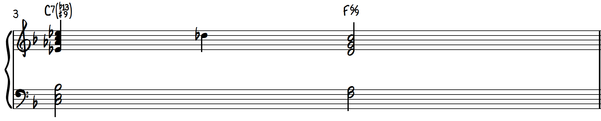 How to use Dissonant Chord 1 in a jazz piano progression