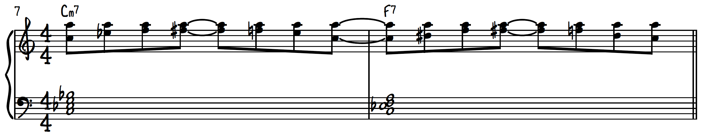 8th note exercise for smooth jazz piano
