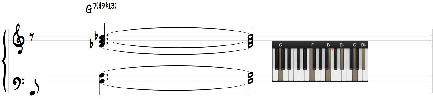 G7(#9b13) Dominant Polychord Learn Jazz Piano