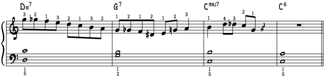 Must Have Jazz Piano Lick #1 with Fingerings