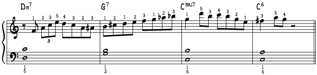 Must-Have Jazz Piano Lick #2 with Fingerings