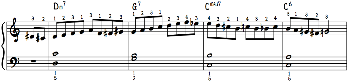 Must-Have Jazz Piano Lick #3 with Fingerings