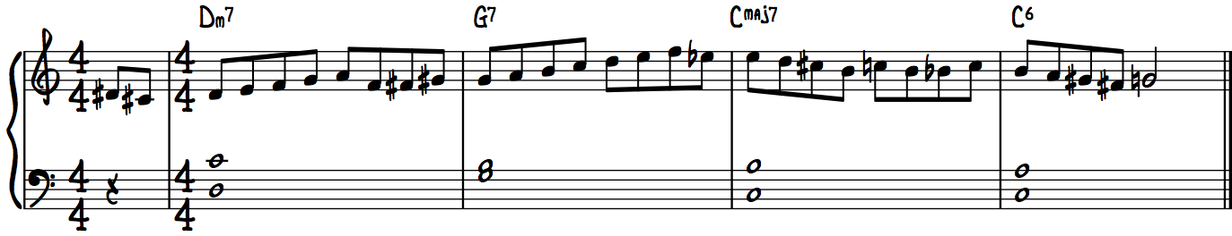 Must-have jazz piano lick #3