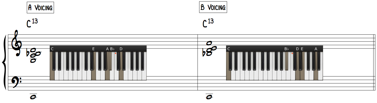 Jazz Piano Rootless Voicings Bill Evans A Voicing B Voicing