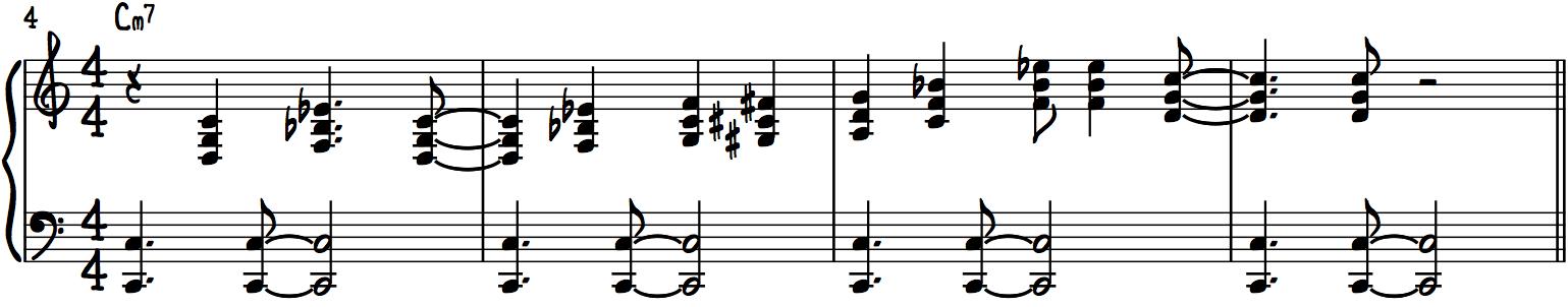 Cm7 Funk Piano Solo Play Line 1