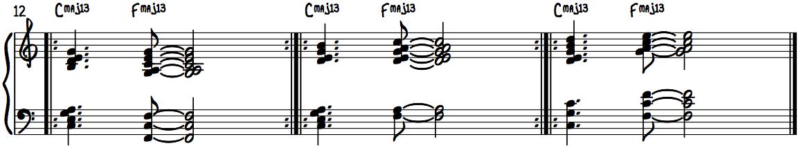 Jazzy Major Chords Progression