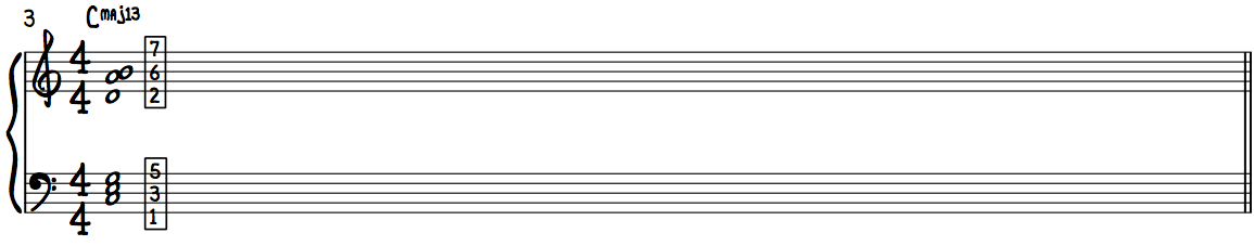 C Major Chord with Jazzy 2nd 6th 7th (9th 13th)