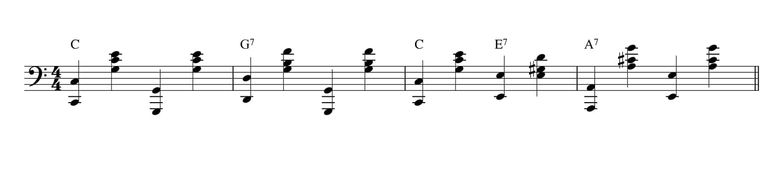 Stride Piano Pattern