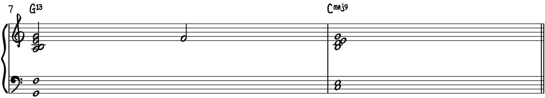 Stock Chords (13th Chords) harmonize chord progression
