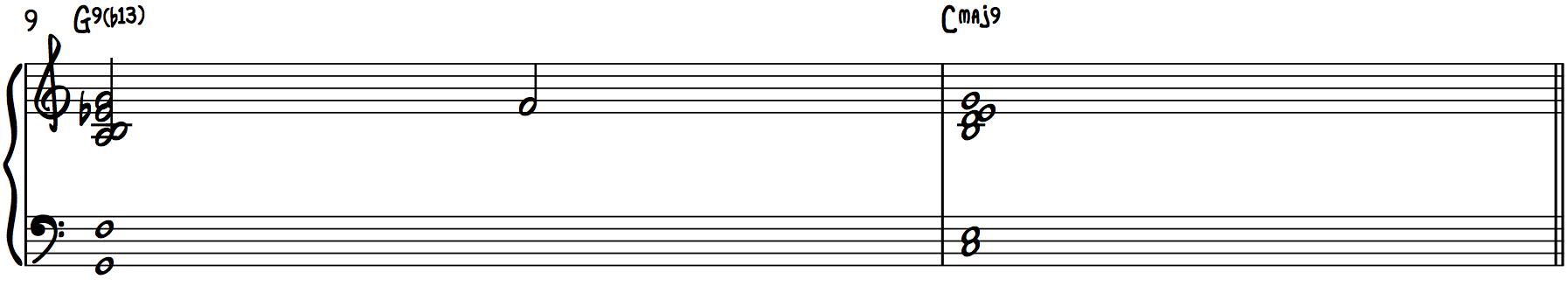 Stride Chords (b13 Chords) ragtime left hand