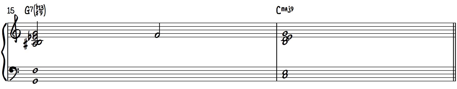 Bill Evans Chords (b13, #9 Chords) harmonize chord progression