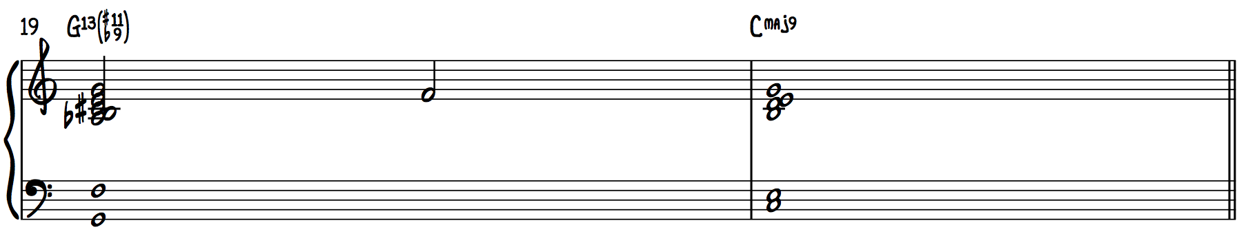 Intro Chords (#11, b9 Chords) Piano run
