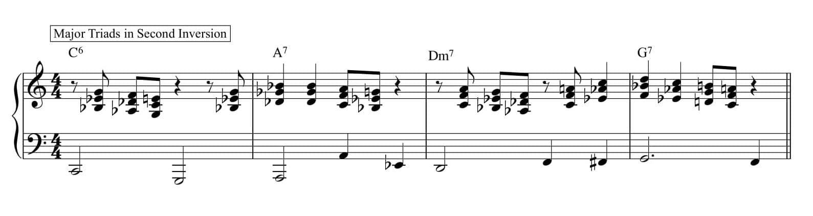 Right hand harmonized melody