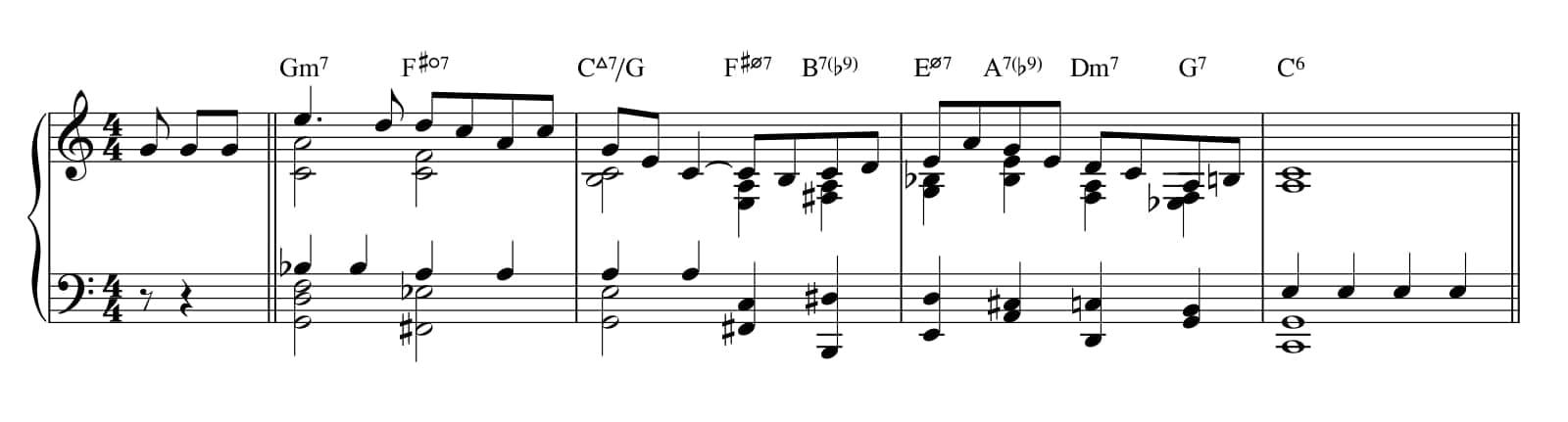 Repeated quarter note ballad