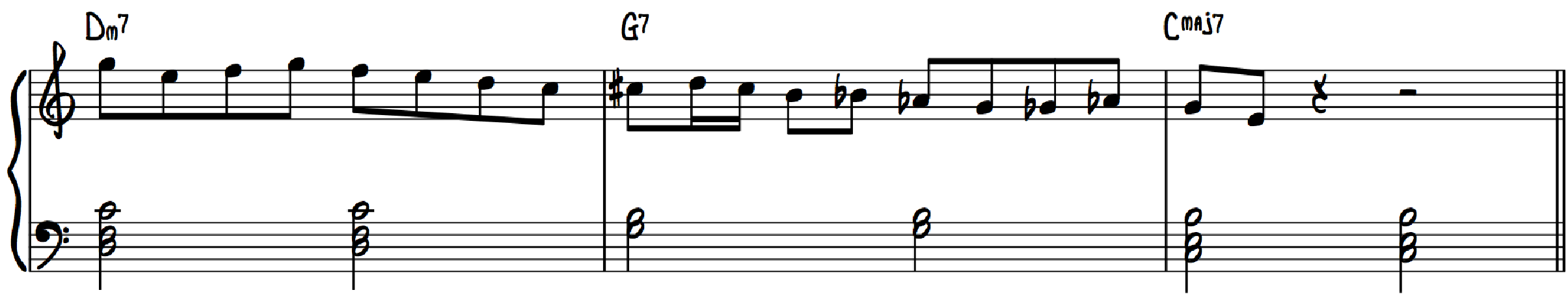 2-5-1 Lick Straight 8ths Even Eighths Classical Standard Eighth Notes