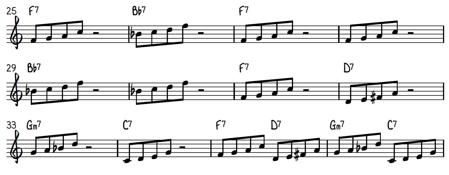 Building jazz vocabulary: The Rock Climber Part 1