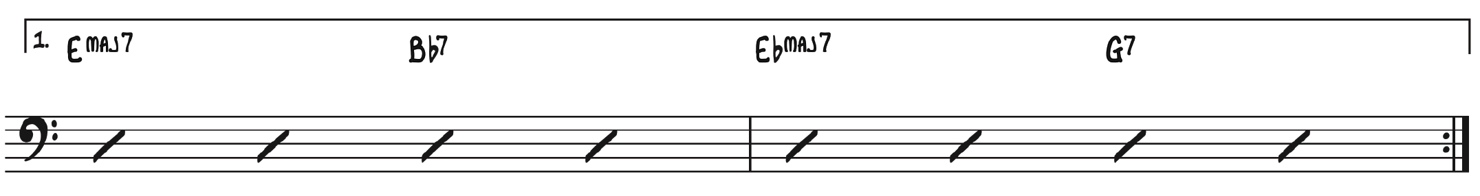 1st Ending Basic Chords Structure