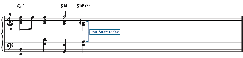 Harmonization with Upper Structure Triads