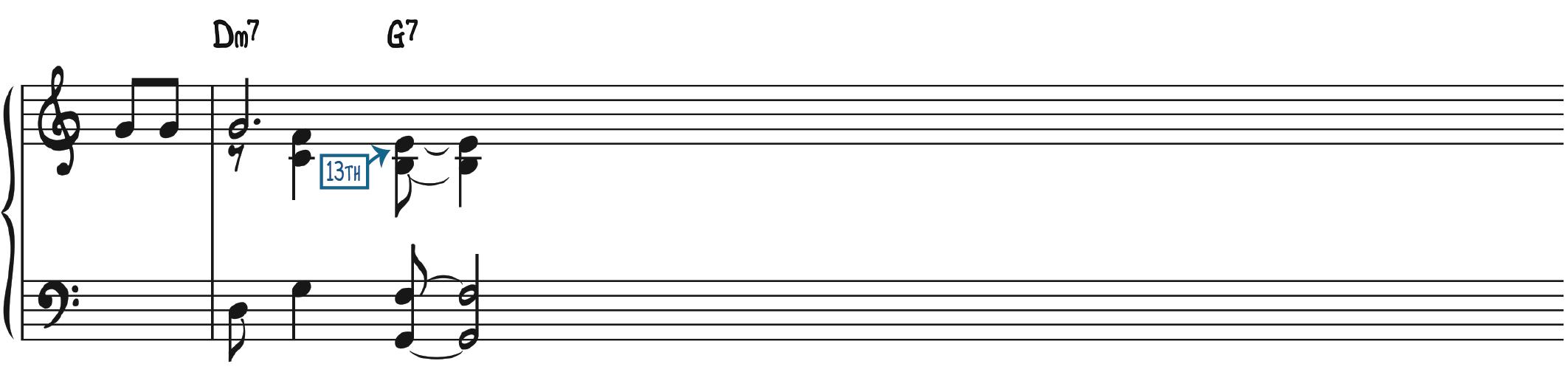 Dominant 13th Jazz Piano Chord