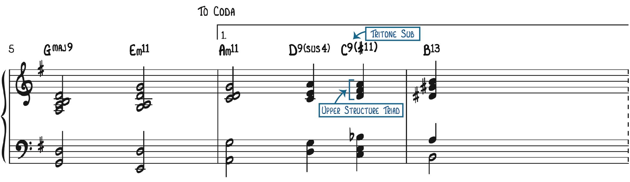 1st Ending Tritone Sub & Upper Structure Triad