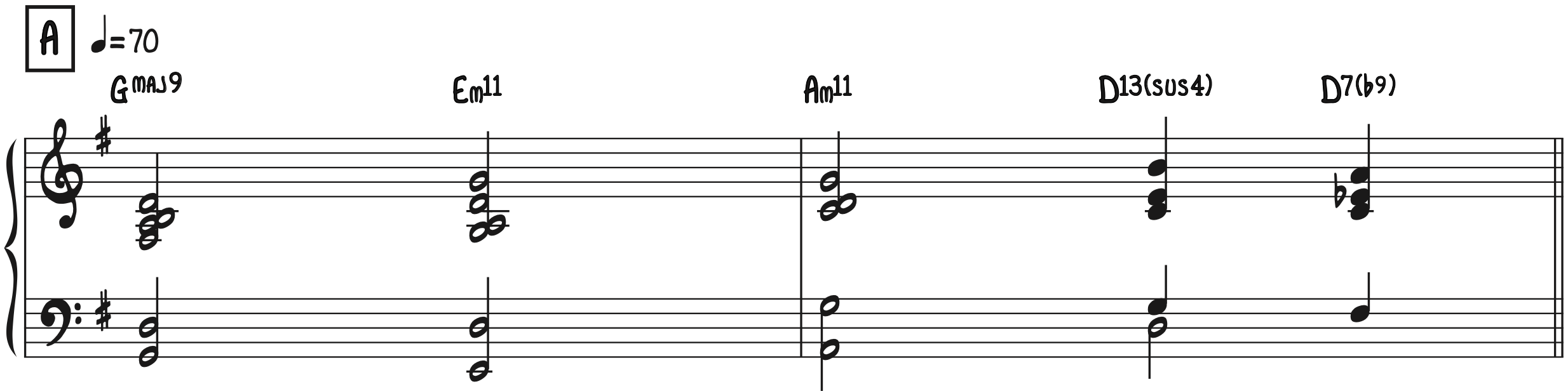 Turnaround Progression in G Have Yourself A Merry Little Christmas Jazz Piano Accompaniment