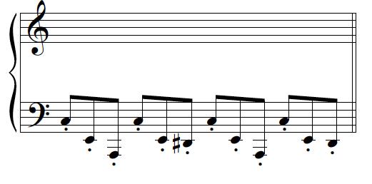 film music dissonant bass line