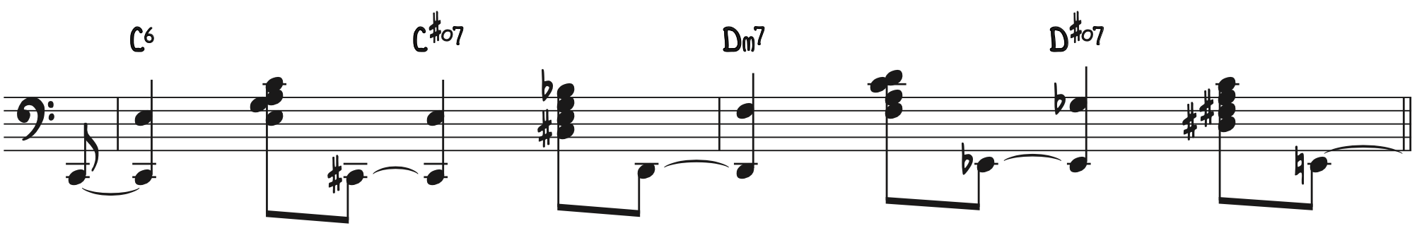 Left Hand Stride Piano Exercise—Rolled 10ths