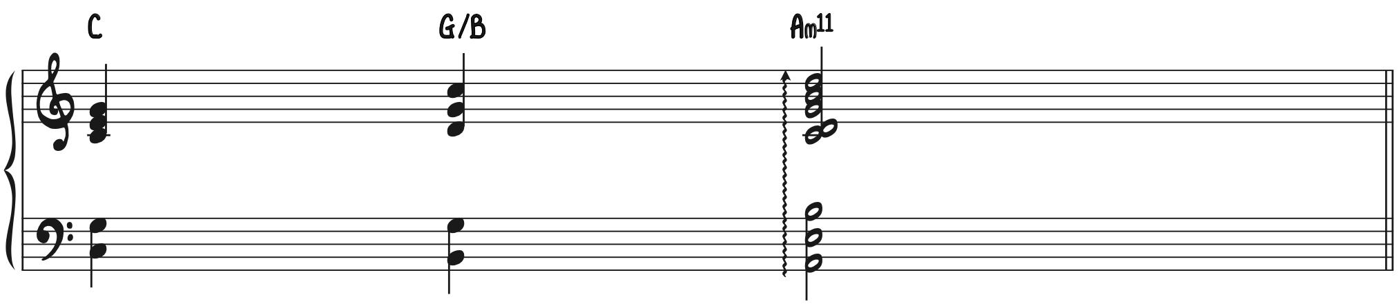 Progression 1 - Transformed Beautiful Minor Chord Sorrow Chord Am11