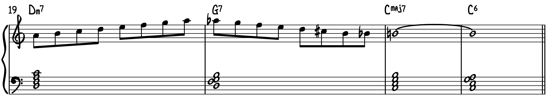 Connecting Dominant Diminished Scale Exercise 3 improvise jazz piano professional lines