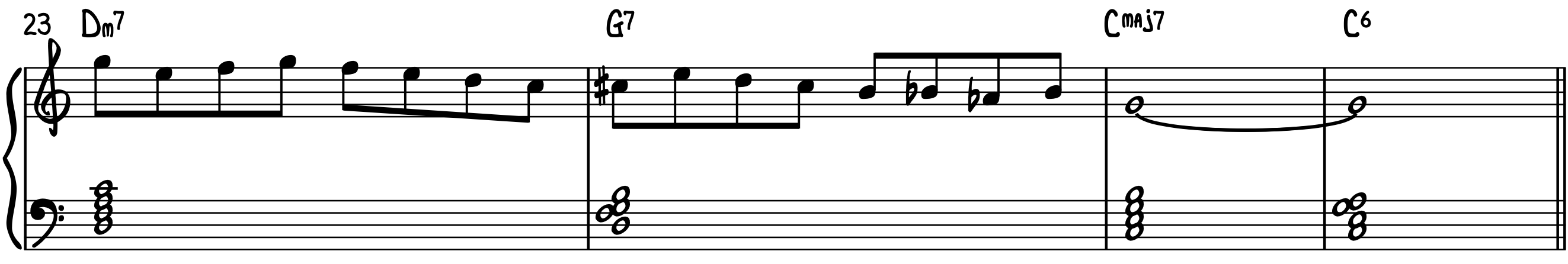 Improv Example 1 with the Dominant Diminished Scale jazz piano