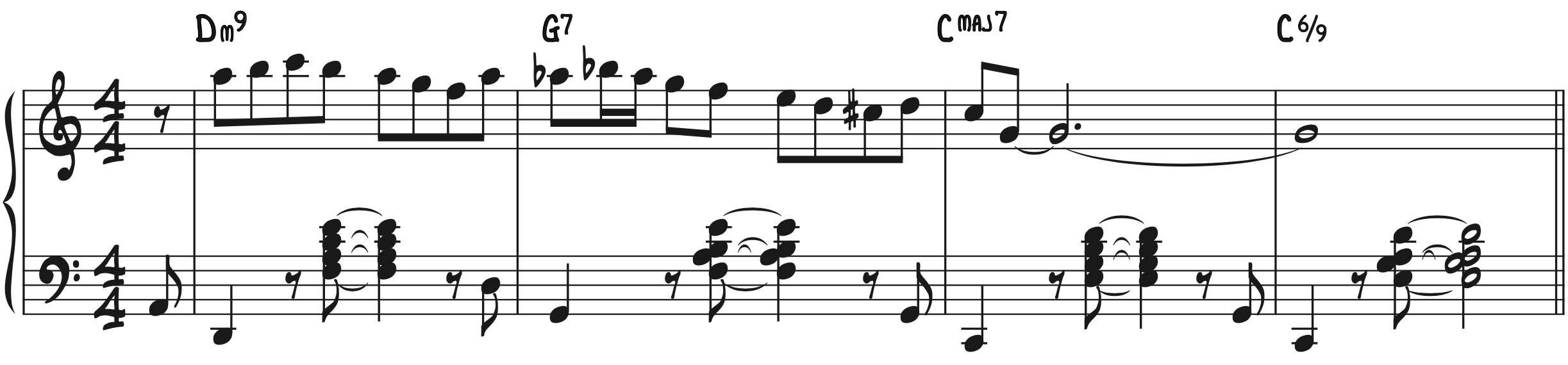 Dominant Diminished Scale Improv Example Jazz Piano