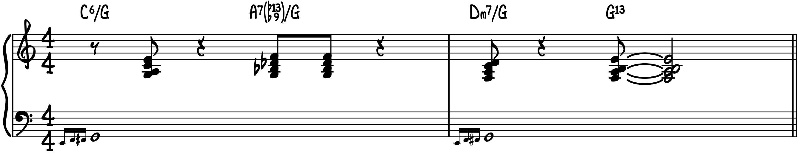 Stock Jazz Swing Piano Intro