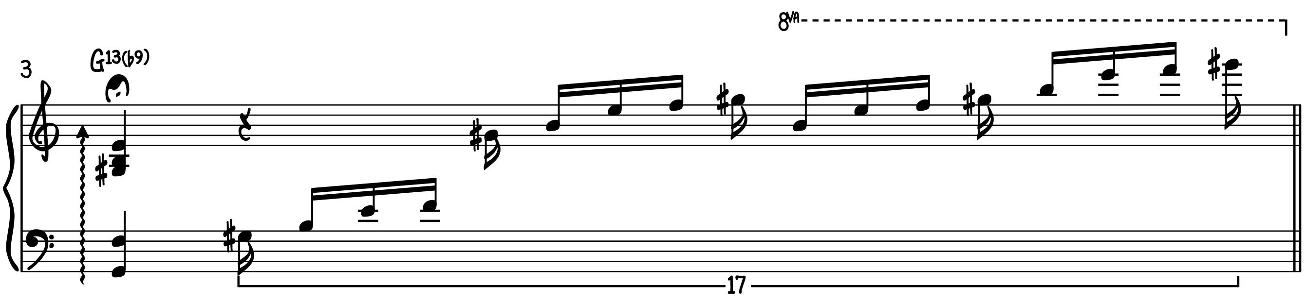 Stock Jazz Ballad Intro for Piano Introduction Run fermata setup glissando