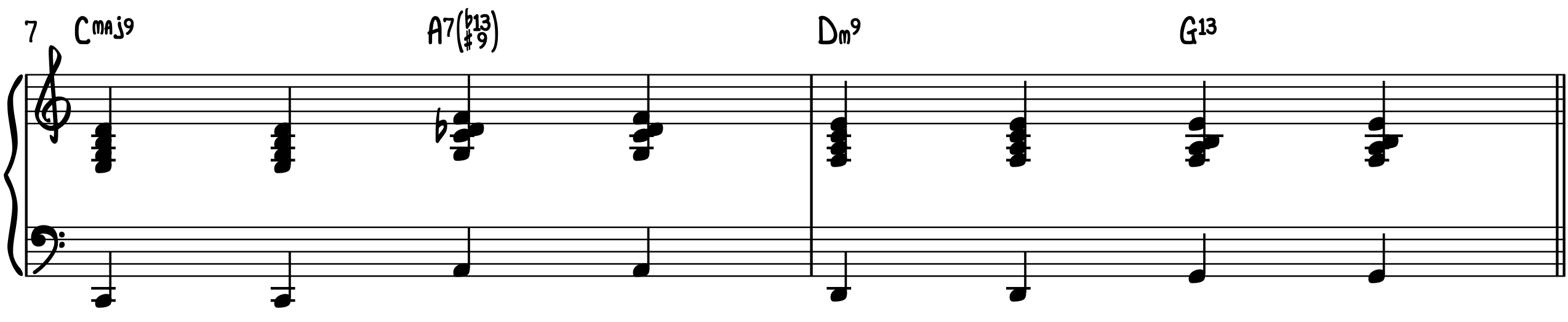 Blue Moon 4-On-The-Floor jazz piano accompaniment