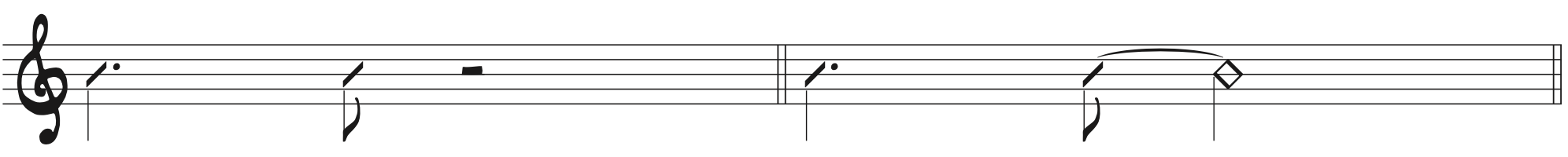 Dotted Quarter Note + Eighth Note swing rhythm for fly me to the moon beginner piano