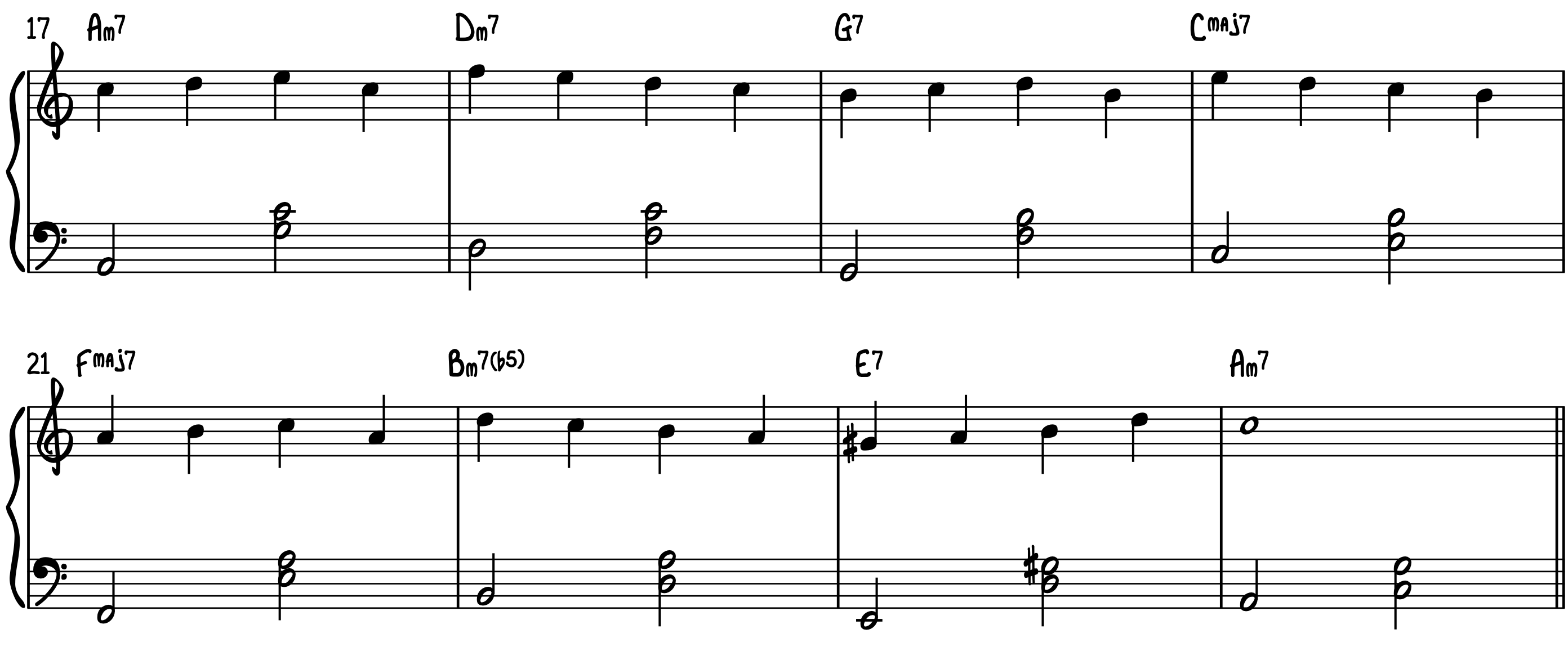 Play Piano Lead Sheets with Guide Tones