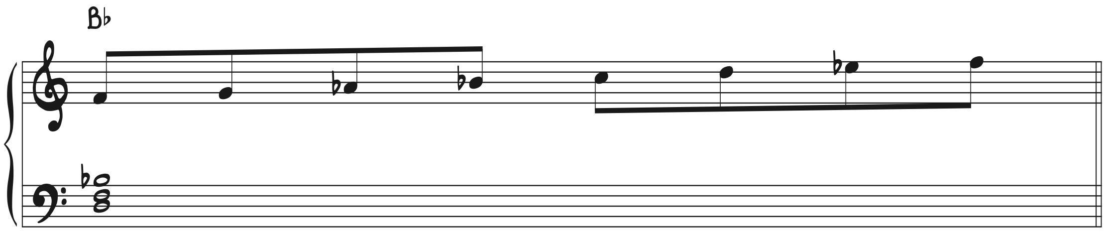 F Natural Minor Scale over Bb