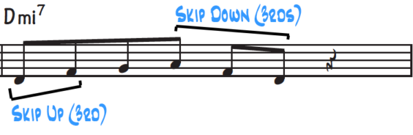Improvisation Technique #2, skip notes in the scale for a nice contrast from stepwise motion