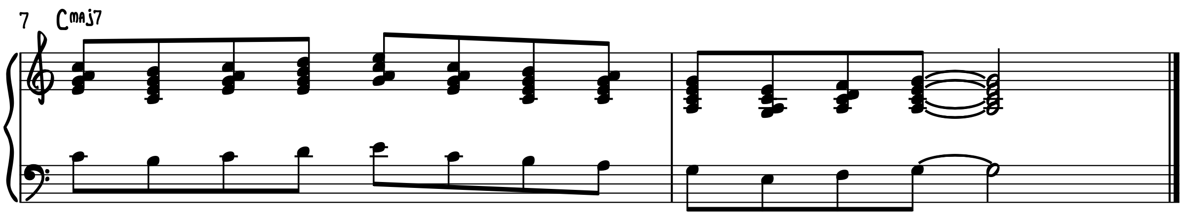 Step 6–Apply Block Chords to Melody