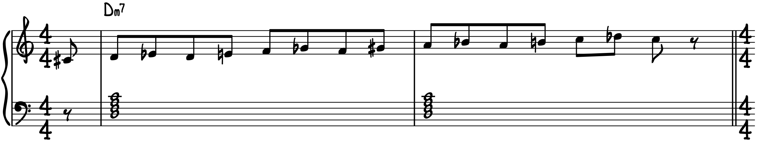 D Minor 7 Exercise