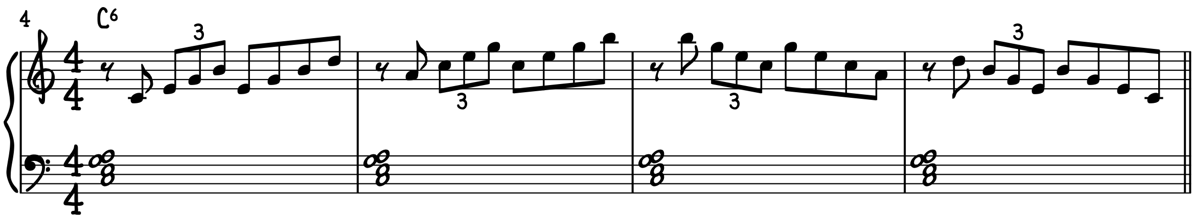 Exercise Outline 7th Chords with Primary Pairs